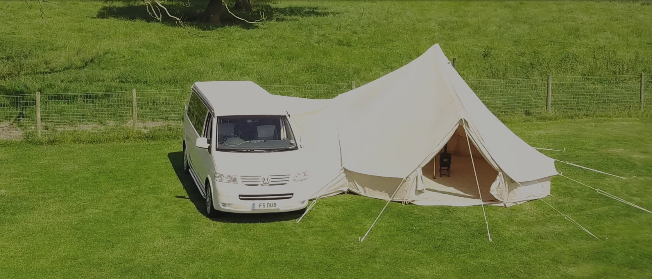 The Worldu0027s Most Glamorous Awning & Glawning | Glamorous Driveaway Bell Tent Awnings u2013 glawning