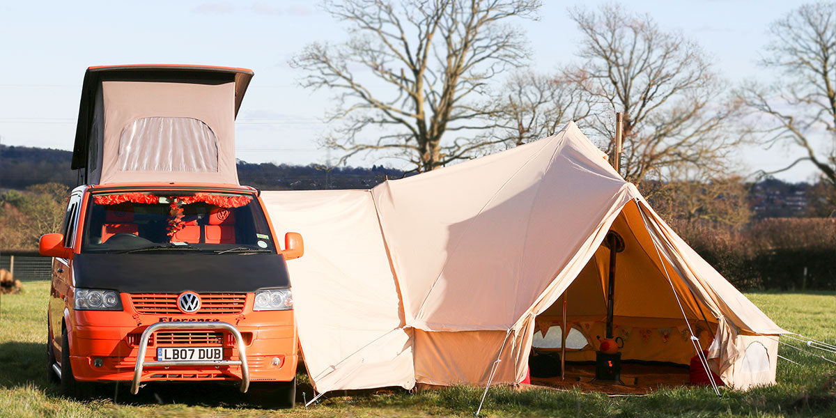 Glawning | Glamorous Driveaway Bell Tent Awnings - glawning
