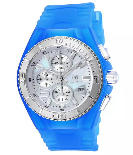TechnoMarine Cruise Jellyfish Women's 40mm MOP Dial Blue Chrono Watch TM-115262-Klawk Watches
