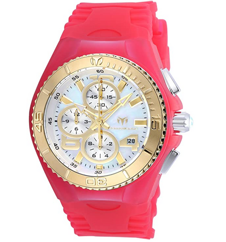 TechnoMarine Cruise Jellyfish Women's 40mm MOP Dial Pink Chrono Watch TM-115264-Klawk Watches