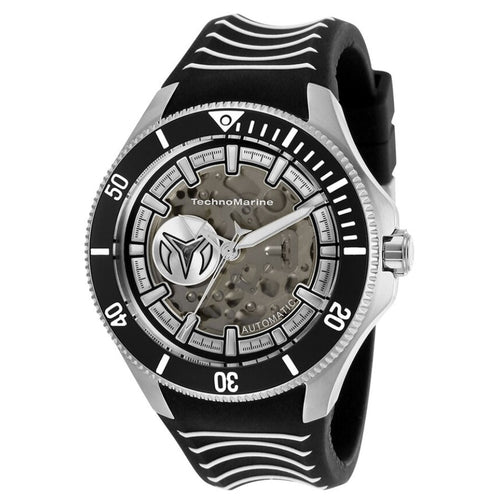 TechnoMarine Cruise Shark Automatic Men's 47mm Black Silicone Watch TM-118019-Klawk Watches