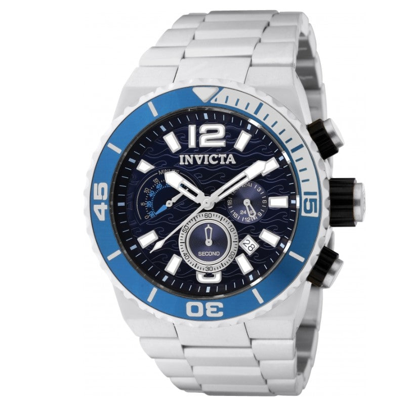 Invicta Pro Diver Men's 48mm Blue Ocean Waves Dial Chronograph Watch 1342-Klawk Watches