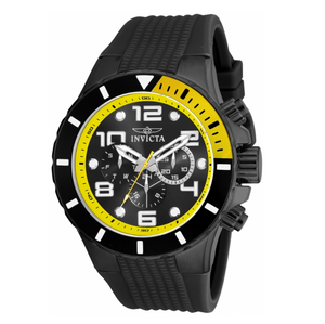 Invicta Pro Diver 18741 Men's Black & Yellow Silicone Chronograph Watch 50mm-Klawk Watches