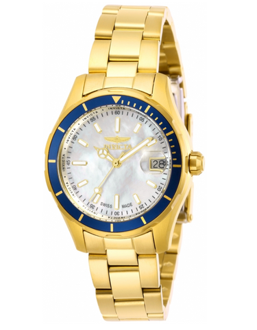 Invicta Pro Diver 28646 Women's 34mm SWISS MADE Gold-Tone Quartz Watch-Klawk Watches
