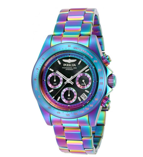 Invicta Speedway Men's 40mm Iridescent Rainbow Chronograph Watch 23941 RARE-Klawk Watches