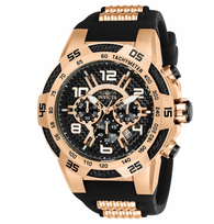 Invicta Speedway Viper Men's 51mm Carbon Fiber Rose Gold Chronograph Watch 24234