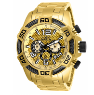 Invicta Pro Diver SCUBA Men's 50mm Yellow Carbon Fiber Chronograph Watch 25854