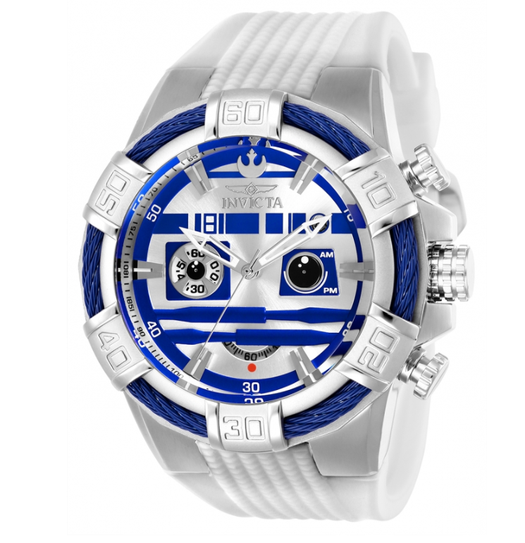 Invicta Star Wars R2D2 Limited Edition Men's 52mm Chronograph Watch 26269-Klawk Watches