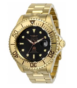 Invicta Grand Diver Automatic 24766 Men's 47mm Gold Black Dial Pro Diver Watch-Klawk Watches