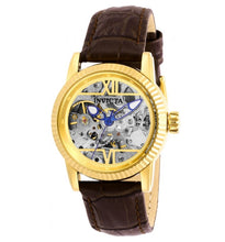 Load image into Gallery viewer, Invicta Objet D Art Automatic Women's 34mm Skeleton Brown Leather Watch 26348-Klawk Watches