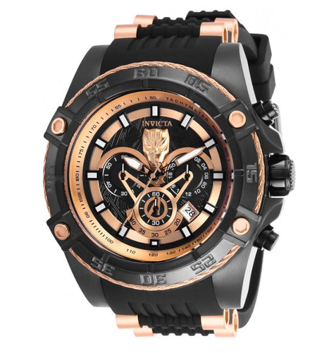 Invicta Marvel Black Panther Mens 52mm Rose Gold Limited Chronograph Watch 26804-Klawk Watches