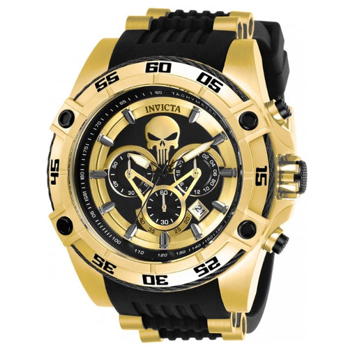 Invicta Marvel Punisher Men's 52mm Gold Limited Edition Chronograph Watch 26860-Klawk Watches
