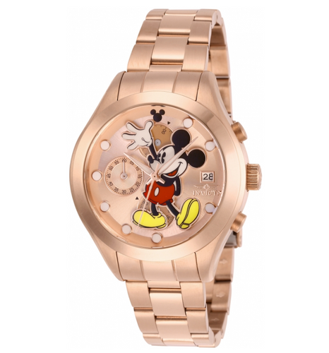 Invicta Disney Limited Ed Women's 40mm Rose Gold Mickey Chronograph Watch 27400-Klawk Watches