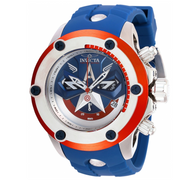 Invicta Marvel Captain America Limited 52mm Swiss Chronograph Watch 28420 RARE