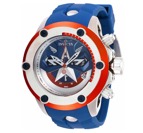 Invicta Marvel Captain America Limited 52mm Swiss Chronograph Watch 28420 RARE-Klawk Watches