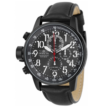 Load image into Gallery viewer, Invicta I-Force Men's 46mm Gunmetal Dial Black Leather Chronograph Watch 28742-Klawk Watches