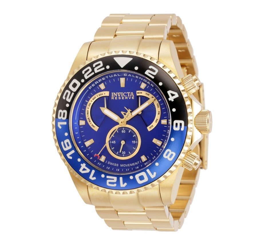 Invicta Reserve Mens 47mm Swiss Perpetual Master Calendar Retrograde Watch 29959-Klawk Watches
