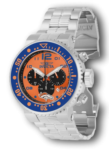 Invicta NFL Denver Broncos Grand Pro Diver Men's 52mm Chronograph Watch 30264-Klawk Watches