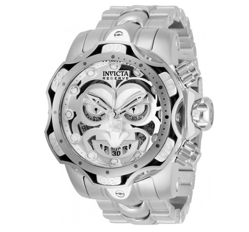 Invicta Reserve DC Comics Joker Mens 52mm Limited Silver Chronograph Watch 30295-Klawk Watches