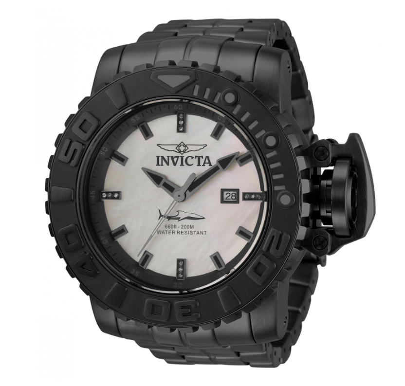 Invicta Sea Hunter Automatic Men's 70mm MOP Dial Diamond Accent Watch 31010-Klawk Watches