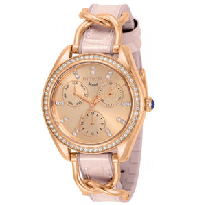 Invicta Angel Women's 36mm Rose Gold Crystals Multi-Function Pink Watch 31206-Klawk Watches