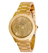Load image into Gallery viewer, Invicta Angel Women's 37mm Gold Mother of Pearl Crystal Day / Date Watch 31262-Klawk Watches