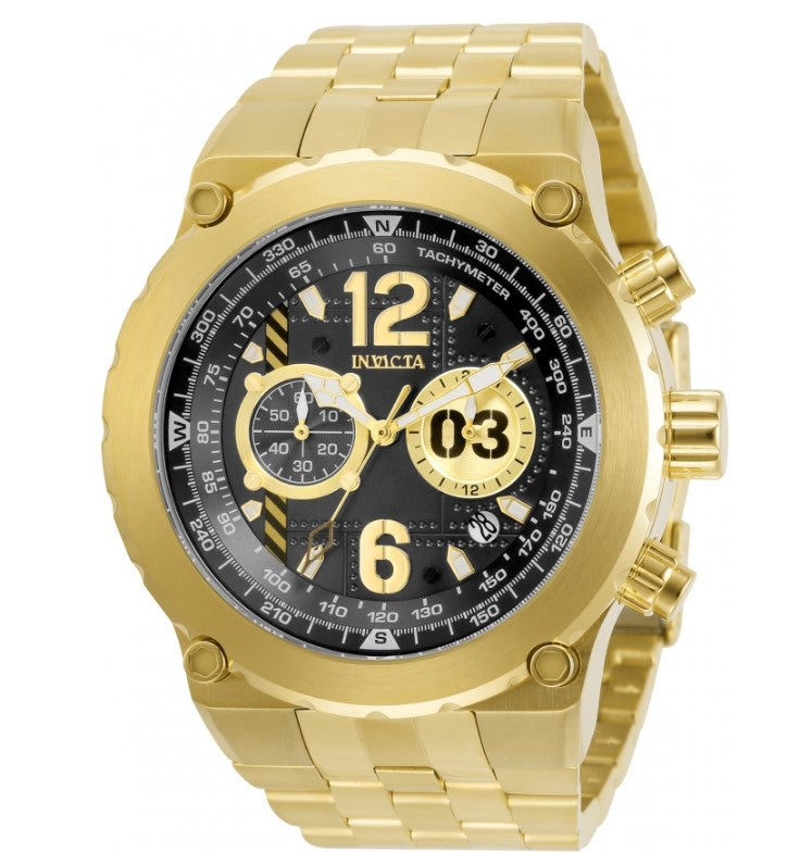 Invicta Aviator Men's 50mm Gold Stainless Fly-Back Chronograph Watch 31592-Klawk Watches