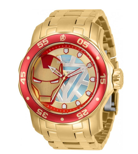 Invicta Marvel Ironman Men's 48mm Limited Pro Diver Scuba Quartz Watch 32423-Klawk Watches