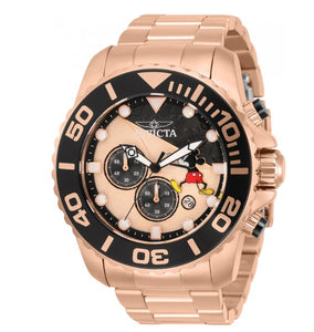 Invicta Disney Limited Ed Men's 50mm Mickey Rose Gold Chronograph Watch 32450-Klawk Watches