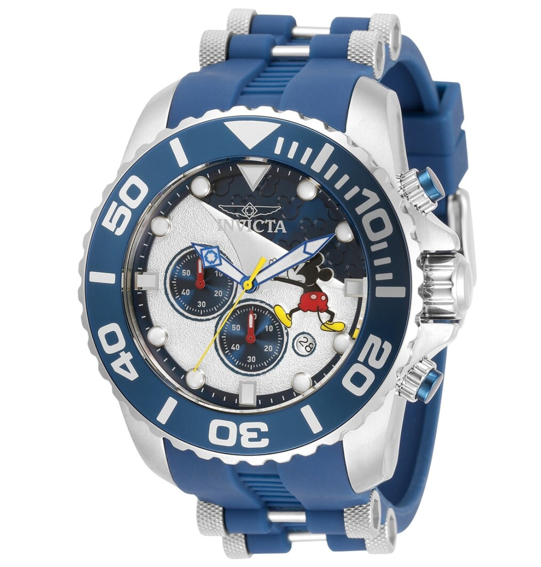 Invicta Disney Limited Edition Men's 50mm Blue Mickey Chronograph Watch 32472-Klawk Watches