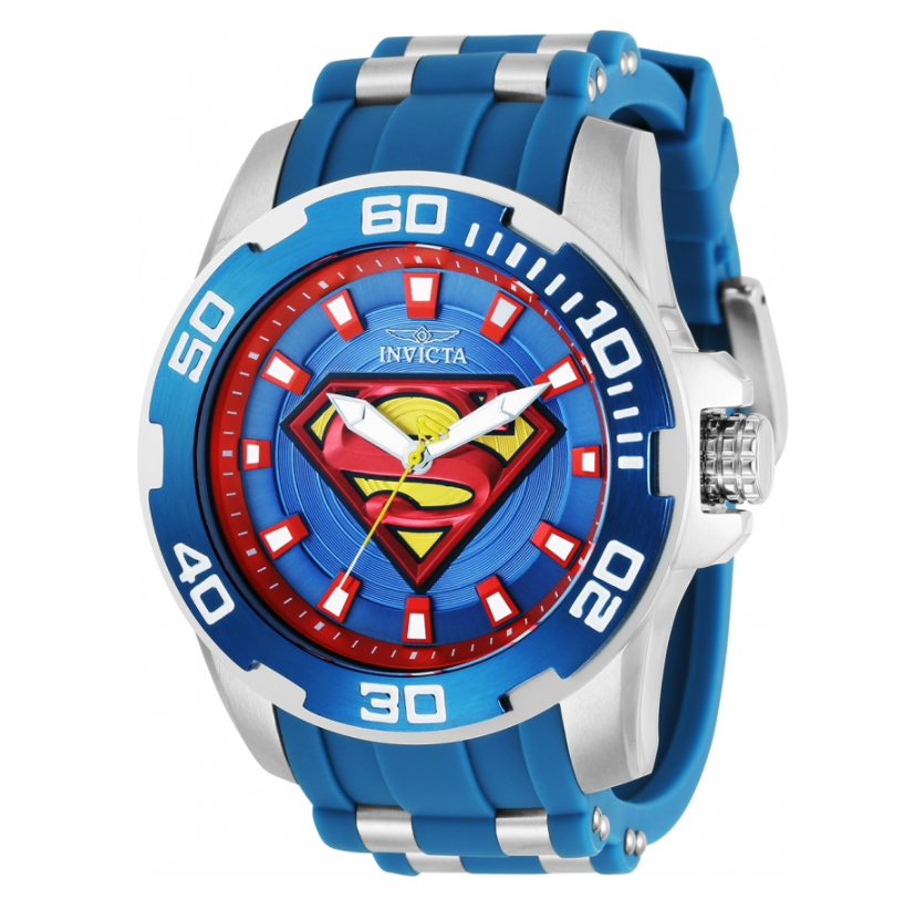 Invicta DC Comics Pro Diver Men's 50mm Superman Limited Edition Blue Watch 32479-Klawk Watches