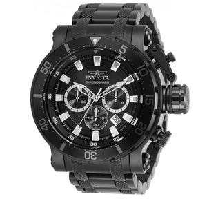 Invicta Coalition Forces Men's 52mm Double Black Chronograph Watch 32727 Rare-Klawk Watches