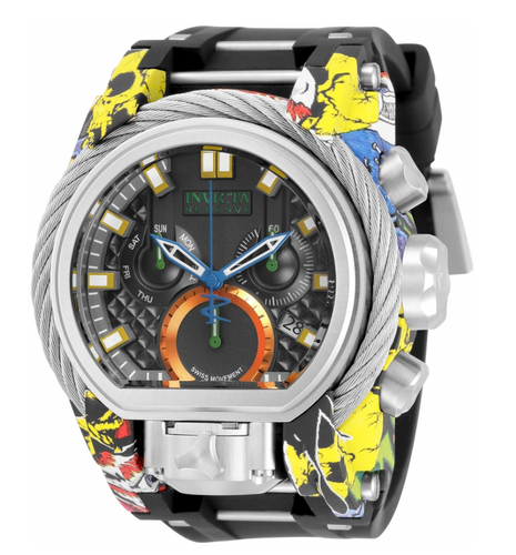 Invicta Reserve Bolt Zeus Magnum 52mm Graffiti Hydroplated Chrono Watch 32804-Klawk Watches