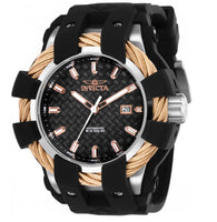 Invicta Bolt Sport Automatic 25035 Men's 50mm Rose Gold Carbon Fiber Dial Watch-Klawk Watches