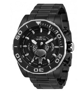 Invicta Marvel Punisher Men's 48mm Limited Edition Dual Time Dials Watch 33311-Klawk Watches