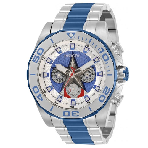 Invicta Marvel Captain America Mens 48mm Limited Edition Chronograph Watch 33394-Klawk Watches