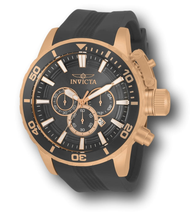 Invicta Corduba Men's 52mm Rose Gold Gray Dial Silicone Chronograph Watch 33704-Klawk Watches