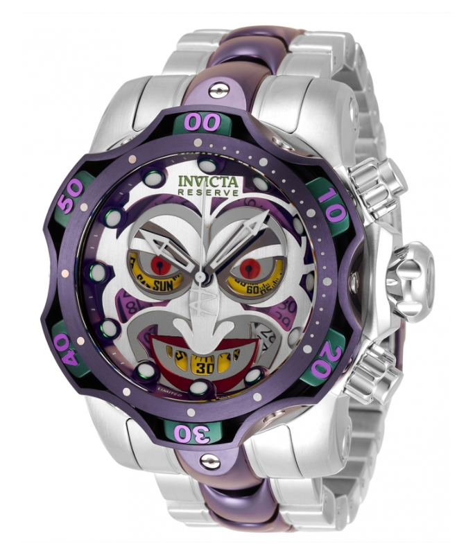Invicta DC Comics JOKER LIMITED Edition Men's 52mm Chronograph Watch 33810 Rare-Klawk Watches