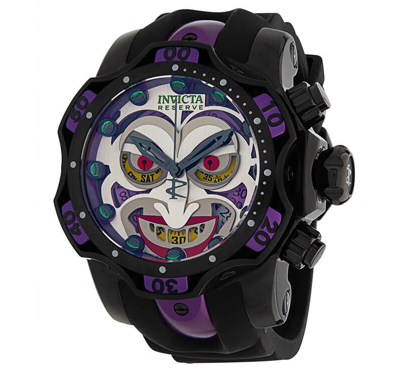 Invicta DC Comics JOKER LIMITED Edition Men's 52mm Chronograph Watch 33813 Rare-Klawk Watches