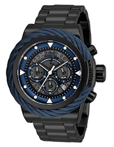 Invicta Bolt Men's 50mm Anatomic Dial Black Stainless Chronograph Watch 27808-Klawk Watches
