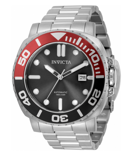 Invicta Pro Diver Automatic Men's 48mm Black / Red Stainless Watch 34314 Rare-Klawk Watches