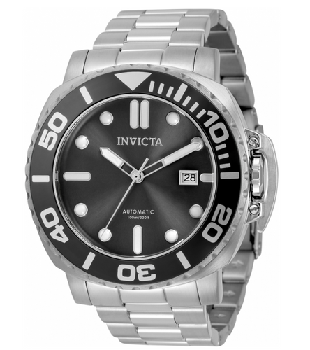 Invicta Pro Diver Automatic Men's 48mm Black Dial Stainless Watch 34315 Rare-Klawk Watches