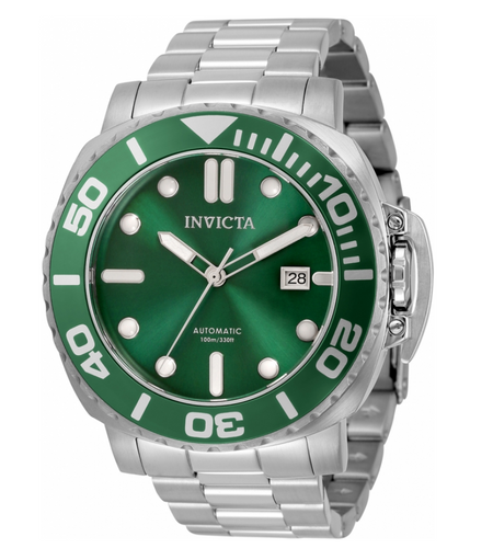 Invicta Pro Diver Automatic Men's 48mm Emerald Green Stainless Watch 34316 Rare-Klawk Watches