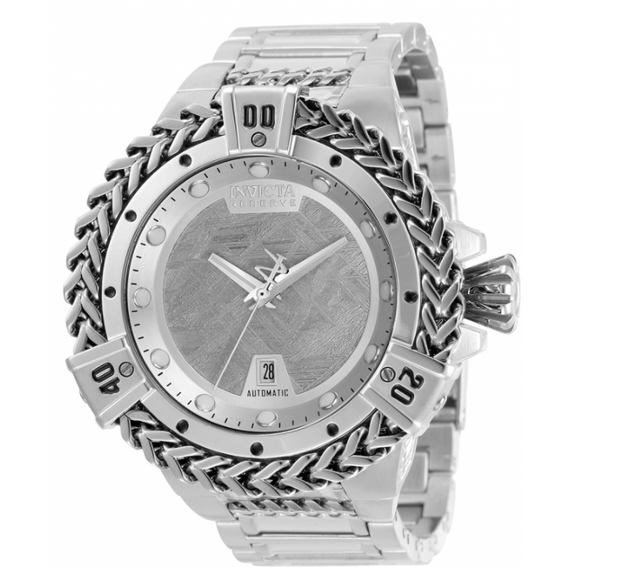Invicta Reserve Hercules Automatic Men's 53mm Silver Meteorite Dial Watch 34319-Klawk Watches