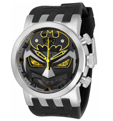 Invicta DC Comics Batman Mens 46mm Limited Edition Swiss Chronograph Watch 34611-Klawk Watches