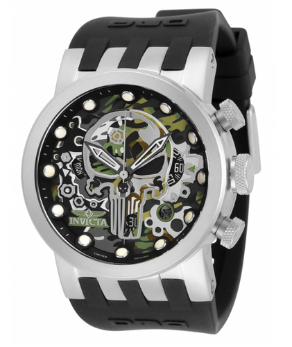 Invicta Marvel Punisher Men's 46mm Limited Ed Swiss Chronograph Watch 34680-Klawk Watches