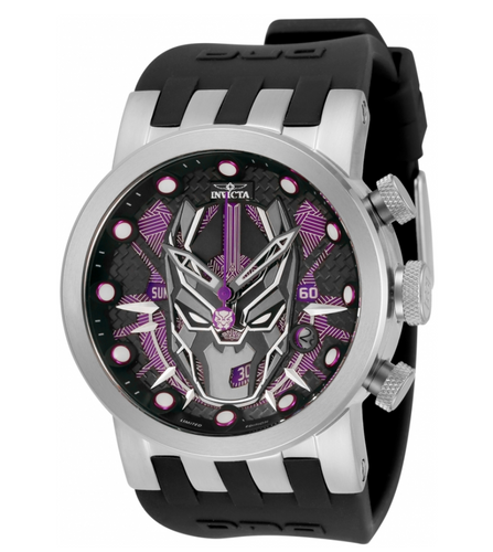 Invicta Marvel Black Panther Men's 46mm Limited Ed Swiss Chronograph Watch 34682-Klawk Watches
