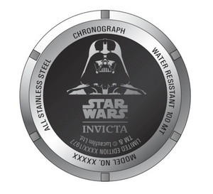 Invicta Star Wars Darth Vader Mens 46mm Limited Ed Swiss Chronograph Watch 34685-Klawk Watches