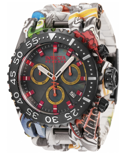 Invicta Reserve Chaos Graffiti Men's 50mm MOP Swiss Chronograph Watch 34722-Klawk Watches