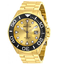 Invicta Grand Diver Automatic Men's 47mm Gold Tone 300M Pro Diver Watch NH35A-Klawk Watches